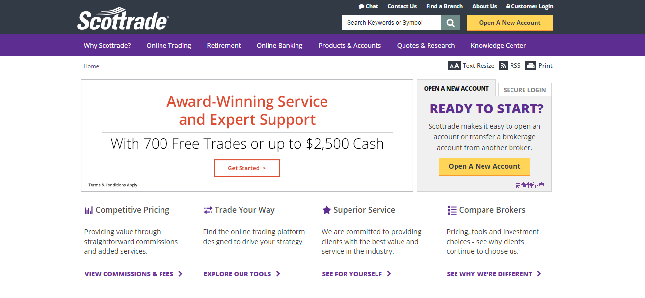 Scottrade Quotes And Research Scottrade Review  Online Discount Broker For Novice Investors