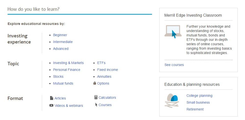Merrill lynch stock options online