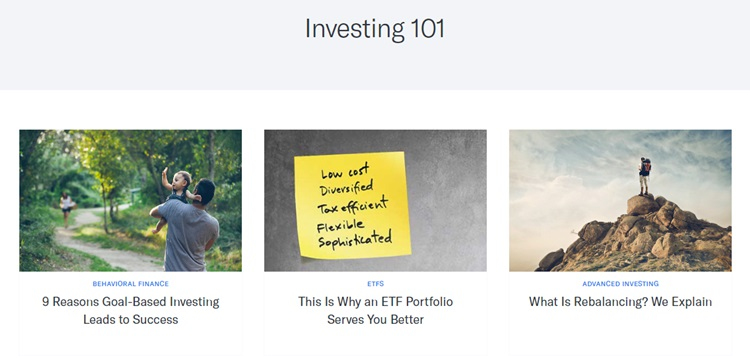 Investing 101 section